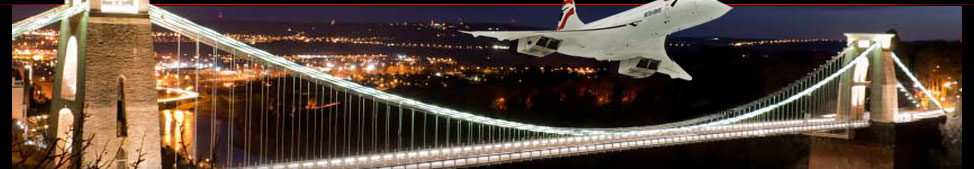 Isambard Kingdom Brunel Clifton Suspension Bridge & Concorde